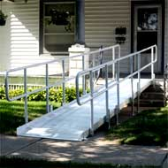 Modular wheelchair ramp - ADA compliant at 1:12