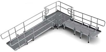 Modular wheelchair ramp for Prefab wheelchair ramp